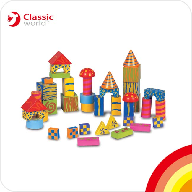 宁波恒兴CLASSIC木制玩具/40片建筑积木